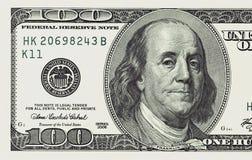 Cent fin de billet d'un dollar vers le haut de détaillé Image stock