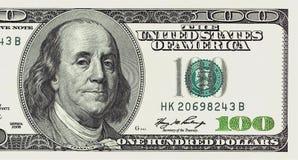 Cent fin de billet d'un dollar vers le haut de détaillé Photographie stock libre de droits
