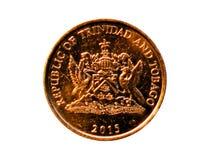 5-Cent-Münze Bank von Trinidad und Tobago Heben Sie, 2015 auf Stockbild