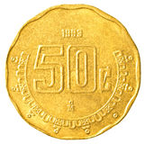 50-Cent-Münze des mexikanischen Pesos Stockfoto