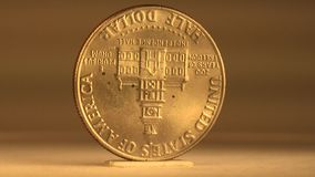 50 Cent Mint Coin from USA Bicentennial stock footage