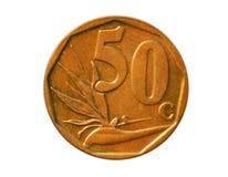 50 cent mynt, Afrika-Dzonga, bank av Sydafrika Avers 201 Royaltyfri Fotografi
