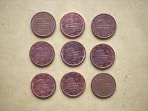 5 cent mynt, europeisk union, Italien Arkivbild