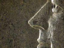 50 cent myntslut upp Royaltyfria Bilder