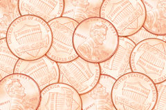 Cent penny background Stock Image