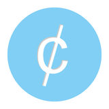 Cent penny currency symbol icon. Image,  illustration Stock Photos
