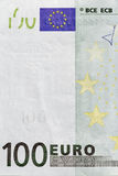Cent plans rapprochés de billet de banque d'euro Photo libre de droits