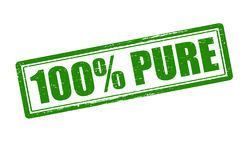 Cent pour cent de pur Photos stock