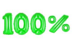 100 cent pour cent, couleur verte Image libre de droits