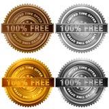 Cent pour cent libèrent l'or P d'argent de bronze d'offre de temps limité Photos stock