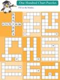 Cent puzzles mathématiques de diagramme illustration stock