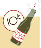 10 Cent Soda Royalty Free Stock Photography