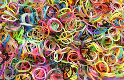 Centaines de bandes multicolores de métier à tisser Photos stock