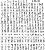 Centaines de caractère japonais Photo libre de droits