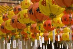 Centaines de lanternes photographie stock