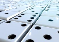 Centaines de matrices se fanant dans la distance Image stock