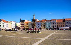 Cental town square of Ceske Budejovice, Czech republic. June 18, 2017 Stock Photo