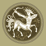 Centaur. Abstract circle frame with centaur Royalty Free Stock Image