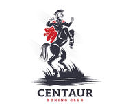 Centaur boxing and fighting club. Vector illustration about Centaur boxing and fighting club Stock Photos