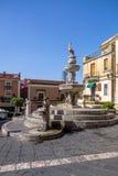 Centaur fontanna przy Duomo kwadratem - Taormina, Sicily, Włochy Fotografia Stock