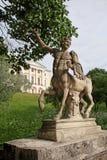 Centaur na centaura moscie w Pavlovsk parku, Rosja Obraz Royalty Free