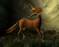 Centaur na tempestade ilustração stock