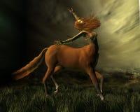Centaur nella tempesta illustrazione di stock
