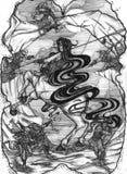 Centaur prendido ilustração do vetor