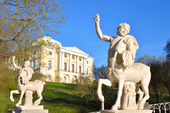 Centaur statuy w Pavlovsk parku Obrazy Royalty Free