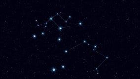 Centaurus星座、逐渐迅速移动的转动的图象与星和概述 向量例证