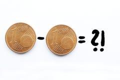 Centavo de Euro Imagem de Stock Royalty Free