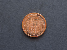 1 centavo de Euro & x28; EUR& x29; moeda Fotos de Stock