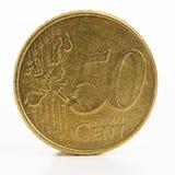 Centavo del euro 50 Imágenes de archivo libres de regalías