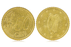 Centavo del euro cincuenta de Irlanda Imágenes de archivo libres de regalías