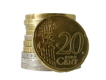 centavo do euro 20 Imagem de Stock Royalty Free
