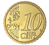 Centavo do euro dez Foto de Stock Royalty Free