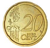 Centavo do euro vinte Imagem de Stock Royalty Free