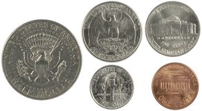 Centavos americanos Imagens de Stock Royalty Free
