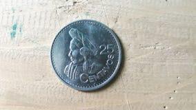 25 centavos del quetzal, Guatemala imagen de archivo