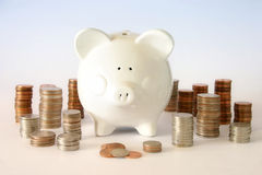 Centavos do dinheiro Foto de Stock