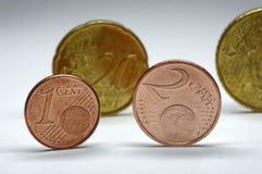 Centavos euro Foto de archivo