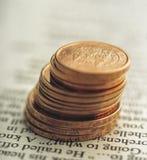 Centavos euro Imágenes de archivo libres de regalías
