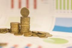 Centavos euro y gráfico Fotos de archivo libres de regalías