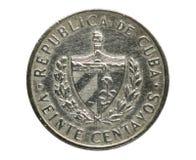 20 Centavos Jose Marti 'Veinte '- för nationell hjälte mynt, bank av Kuban royaltyfri bild