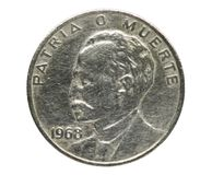 20 Centavos Jose Marti 'Veinte '- för nationell hjälte mynt arkivbilder