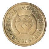 Centavos Mozambique de la moneda 20 Imagen de archivo