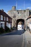 Centeio Inglaterra da porta da parede da cidade fotos de stock royalty free