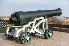 CENTEIO, SUSSEX/UK DO LESTE - 11 DE MARÇO: Vista de um canhão no castelo Foto de Stock Royalty Free