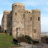 CENTEIO, SUSSEX/UK DO LESTE - 11 DE MARÇO: Vista do castelo em Rye do leste Foto de Stock