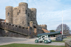 CENTEIO, SUSSEX/UK DO LESTE - 11 DE MARÇO: Vista do castelo em Rye do leste Imagens de Stock